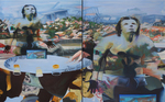 delaube@alaube, diptyque huile sur toile 162 x 260 cm 2012
