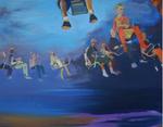 L'orage d'été huile sur toile 130 x 162 cm 2011