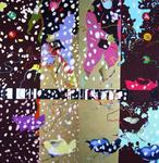La tourmente, diptyque huile sur toile 195 x 194 cm 2006