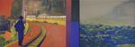 Carte de résidence diptyque huile sur toile 54 x 154 cm 2008