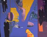 L'orange aux cigales huile sur toile 130 x 162 cm 2008