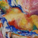 Nu bruyère pastel huile sur papier 32 x 23 cm 1990