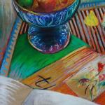 0 Vie silencieuse pastel sur papier 1990
