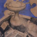1 Vie silencieuse pastel sur papier 1990