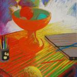 2 Vie silencieuse pastel sur papier 1990