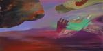Les loges de la pénombre I - huile sur toile  97 x 195 cm 2014