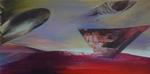 Les loges de la pénombre II - huile sur toile  97 x 195 cm 2014