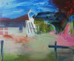 La cour des impatiences huile sur toile 100 x 120 cm 2012