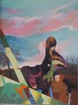 D.416 huile sur toile Marouflée sur bois 80 x 60 cm 2011