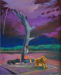 L'autel du lac huile sur toile 65 x 50 cm 2011