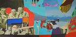 Au pavillon des lauriers huile sur toile 97 x 195 cm 2011