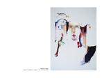 Bouche cerise - pastel et collage sur papier 100 x 70 cm 1999