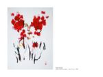 Chair fleurie - pastel huile sur papier 100 x 70 cm
