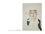 L'homme au Panama - pastel et mine de plomb sur papier 100 x 70 cm 2006