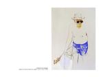 L' homme au serpolet - pastel et mine de plomb sur papier 100 x 70 cm 2006