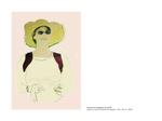 Femme au chapeau de paille - pastel et mine de plomb sur papier 100 x 70 cm 2006