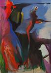 Oiseaux d'argile 116 x 89 huile sur toile 2015
