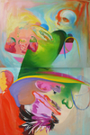 Plates - formes, diptyque 194 x 130 huile sur toile 2016