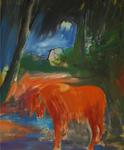 Journée nocturne huile sur toile 120 x 100 cm 2014