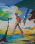 Marcher 100 x 81 cm huile sur toile 2016