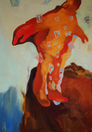 Küssen kann man nicht allein, 100 x 73 cm huile sur toile 2014