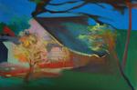 La maison du voisin huile sur toile 73 x 50 cm 2015