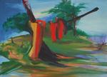 Adicas 130 x 162 cm huile sur toile 2014