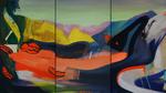 Eteindre la vie d'avant triptyque 46 x 81 cm huile sur toile 2015