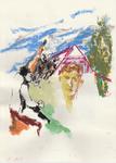 Huile pastel encre sur papier 28,5 x 20 cm 2016