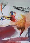 Huile et encre Chine sur papier 21 x 29,7 cm 2016