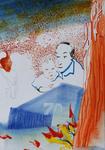 Huile et encre Chine sur papier 28,5 x 20 cm 2016