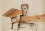 Huile et fusain papier 20 x 28,5 cm 2016