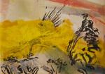 Huile et encre Chine sur papier 20 x 28,5 cm 2016