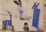 Huile et pastel encre papier 20 x 28,5 cm 2016