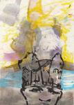 Huile et encre de Chine 28,5 x 20 cm 2016