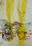 Huile et encre de Chine et  pastel 28,5 x 20 cm 2017