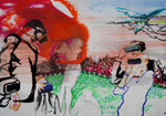 Huile et encre de Chine 20 x 28,5 cm 2017