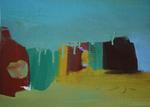 Cabines huile sur toile 24 x 33 cm 2014